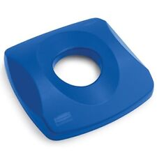 2691 Rubbermaid Commercial Untouchable Recycling Tops, 16 x 16 x 3 1/4, Blue