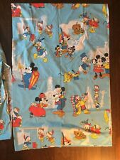 Vtg Mickey Mouse Frontierland Twin Sheets Walt Disney Productions Bedding
