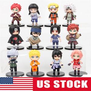 Naruto Kakashi Sakura Sasuke Model Doll 12 PCS Action Figures Kids Toy Gift