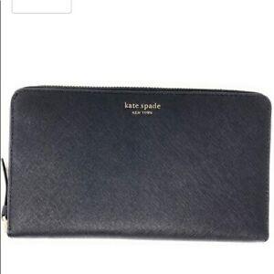 Kate Spade Cameron Large Travel Wallet - Black WLRU5442