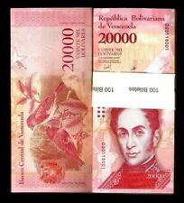VENEZUELA 20000 20,000 BOLIVAR NEW 2017-2018 X 20 PCS BUNDLE LOT UNC BIRD NOTE