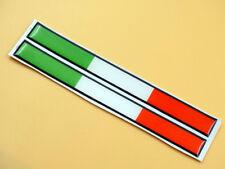 FERRARI FIAT LAMBO DUCATI APRILIA 2X ITALY ITALIAN FLAG HOOD TRUNK EMBLEM BADGE