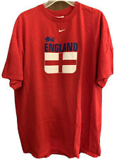 Nike Rooney England FOOTBALL Soccer Shirt Jersey #9 Red Size XL