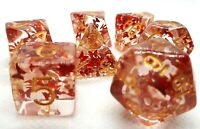 dice4friends RPG Würfel Set 7 Poly DND Rollenspiel Red Butterfly Schmetterling