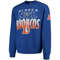 Denver Broncos Mitchell & Ness NFL Fleece Crew Toss Up Sweatshirt - Size L