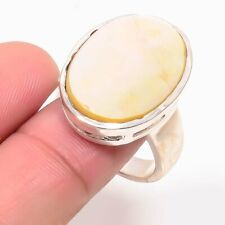 """Mother of Pearl Gemstone Handmade Fashion Jewelry Ring Size 8"""""""