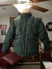 Vintage Chaps Ralph Lauren Down Jacket Mens Large Green Full Zip Puffer Coat Exc
