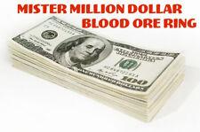 Mister Million Dollar Lottery Blood Ore Ring Lotto Gambling Win Money Hoodoo $$
