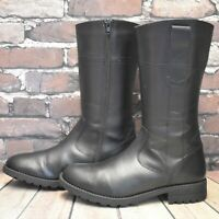Junior Marks & Spencer Black Zip Fastening Knee High Boots Size UK 6 EUR 39.5