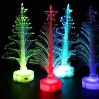LED Fiber Optic Mini Nightlight Christmas Tree Light Lamp Decoration Xmas Gifts