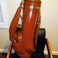 ~ Vintage ~ Miller Pro Only Golf Bag ~6-Way divider 8PGK2222 43~EUC~ Leather