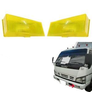 For 1986-1994 Mitsubishi Fuso Fn527 Fv87 Fm 850 Fog Lamp Yellow Pair Lr