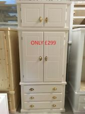 Furniture Home & Garden Shrewsbury Range Gents 2 Drawer Topbox Wardrobe Grey Assembled No Flat Pack