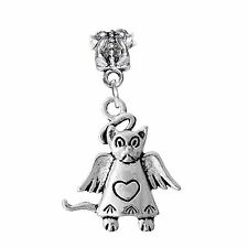 Angel Cat Loss of Pet Remembrance Gift Dangle Charm for European Bead Bracelets