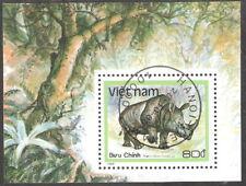 Vietnam 1988 Wild Animals Rhino Souvenir Sheet First Day Issue (SC#1892)