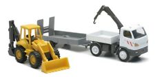 Truck Trailer with Backhoe or Excavator 1/43 new ray