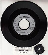 """UB40  Kingston Town 7"""" 45 rpm vinyl record + juke box title strip RARE!"""
