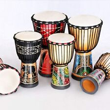 More details for djembe drum carved bongo african inspired music beginners for kids and adults