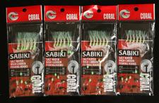 3/5/10 Packs 6 hook/set Sabiki White&Green Feather Fish String Hook Fishing Lure