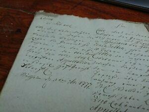 Vecchio Latenische Grafia Antico Circa 1777 Manuscript 44 Pagine Pergamena