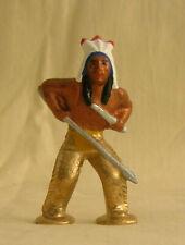 Podfoot Indian w/Spear & Knife, Reproduction Standard Gauge western train figure