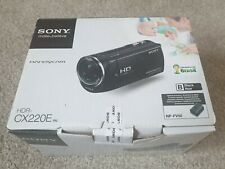 Sony Handycam HDR-CX220E Black with hdmi and USB cables & 8GB memory card boxed