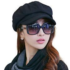 Siggi Womens Visor Beret Newsboy Hat Cap for Ladies Merino Wool 67145_black