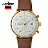 Junghans Max bill Chronoscope 027/7800.00 leather Watch for Man &Woman