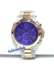 Michael Kors Bradshaw Chronograph Blue Dial Transparent ROS Men's Watch MK5950