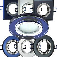 Einbaustrahler Einbau-Spot ( GU10 230V )( MR16 12V ) LED Einbauleuchte GLAS