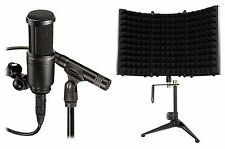 Audio Technica AT2041SP AT2020+AT2021 Studio Condenser Microphones+Iso Shield