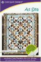 At Sea Quilt Pattern by Cozy Quilt Designs 5 Sizes Lap, Throw, Twin, Queen, King