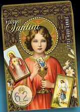 62 SCHÖNE ALTE KOMMUNION HEILIGENBILDCHEN JESUS MARIA ENGEL 30er IN SCHÖNER TÜTE