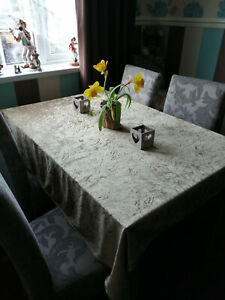 light weight crushed velvet table cloths, made to order. more colours