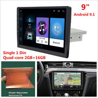 """1Din Android 9.1 WiFi 9""""Car Stereo Radio GPS Navigation Multimedia Player 2+16GB"""