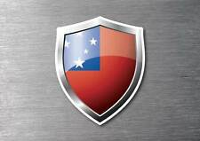 Samoa flag shield sticker 3d effect quality 7 year water & fade proof