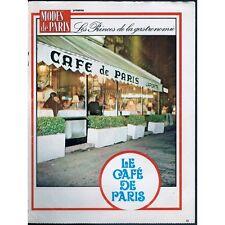 CAFÉ de PARIS à BIARRITZ de Robert et Pierre LAPORTE Ducazeau Dagois Grenade 197