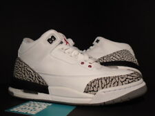 Nike Air Jordan III 3 Retro GS 1988 88 WHITE CEMENT GREY FIRE RED BLACK 7Y 7