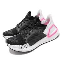 adidas UltraBoost 19 W Black White Pink Womens Running Shoes BOOST EF1625