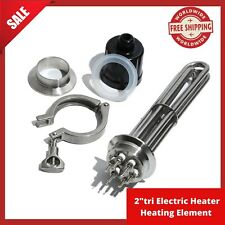 """2""""Tri-clamp Electric Heater Heating Element Immersion Water Heater for Water/OIL"""