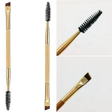 Double Sided Ended Eyebrow Makeup Wand Brow Shaping Angled Eyelash Brush Gold
