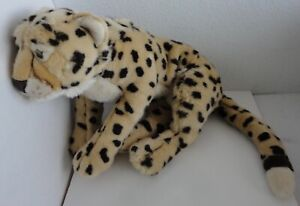 Toys R Us FAO Schwarz Realistic Cheetah Leopard Plush Stuffed Animal Jungle Cat