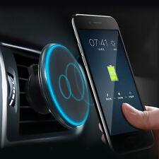Qi Auto Ladegerät Lampe Halterung Magnet Lüftung Halter Für iPhone 8 X Samsung