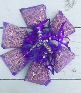 10 Dried Lavender Bags Natural Handmade Fresh Buds Scent Aroma, Wedding Favours