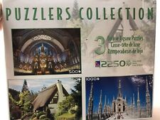 Puzzlers Collection Set of 3 Jigsaw Puzzles 2250 Pieces Sure-Lox Notre Dame