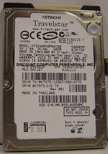 """HTS548060M9AT00 Hitachi 60GB IDE 2.5"""" 9.5MM Hard Drive Tested Our Drives Work"""