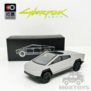 Xcartoys 1:64  Tesla Cybertruck Truck 01 Silver Diecast Model Car