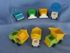Fisher Price Construction Airport DUMP TRUCKS LOADER BAGGAGE CARTS Little People