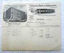 1895 BILLHEAD ST PAUL EARWELL OZMUM KIRK CO HARDWARE ISDELL PONY MT #B7P