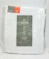 "JCPenney Home Cool White Bayview Sheer Rod-Pocket Curtain Panel, 50""x84"""
